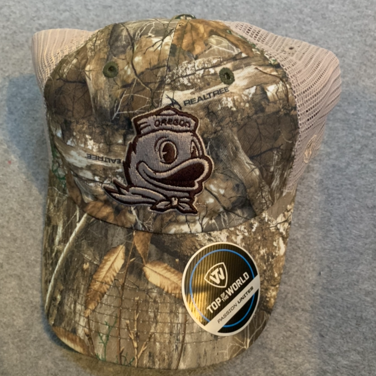 Oregon Ducks Logo Realtree Ball Cap - Camouflage, Adjustable