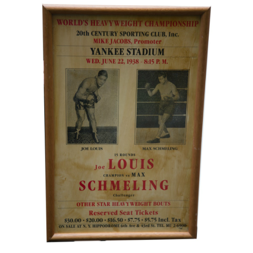 Historic Joe Louis - Max Schmeling Heavyweight Championship Fight Poster