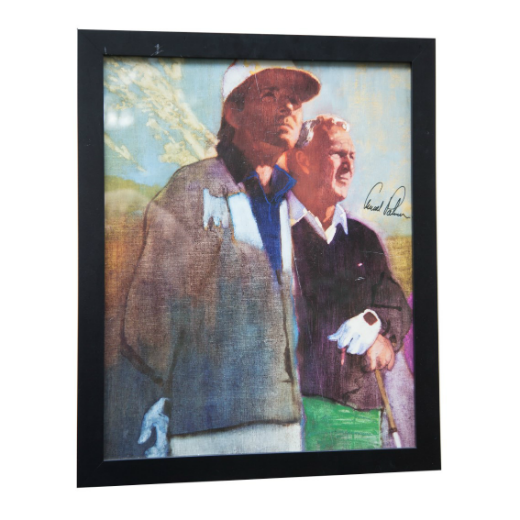 Arnold Palmer Autographed Fine Art Poster with Gary Player