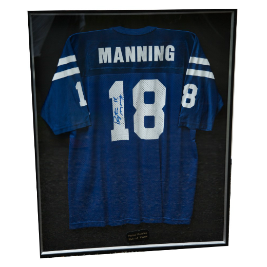 Peyton Manning Autographed Home Jersey