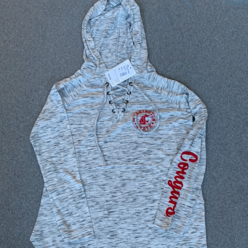 Women's WSU Cougars Long Sleeve Hoodie - Grey