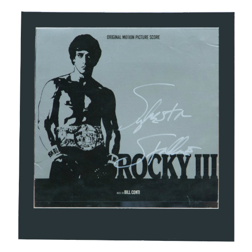 Sylvester Stallone Autographed Framed Record Album