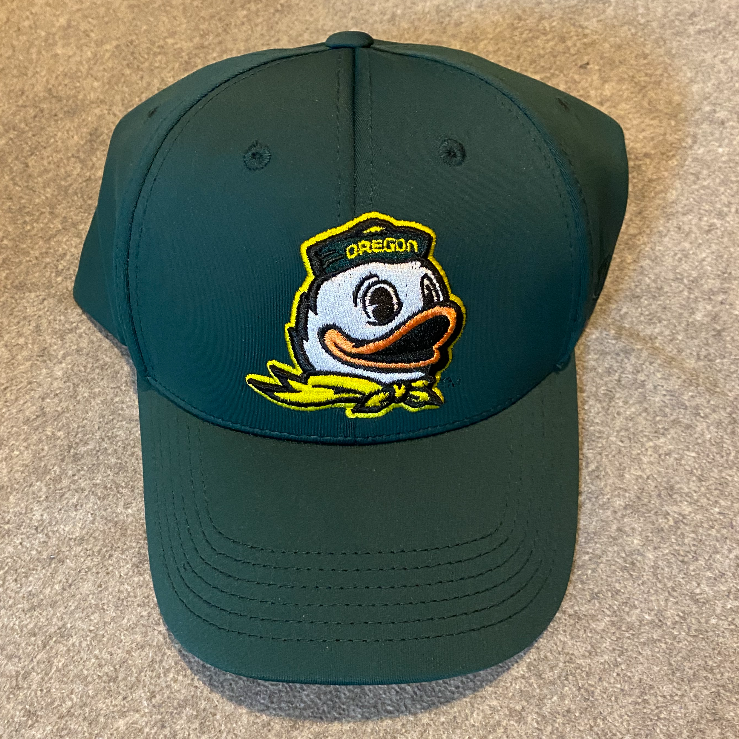 Oregon Ducks Logo Ball Cap - Green, Adjustable