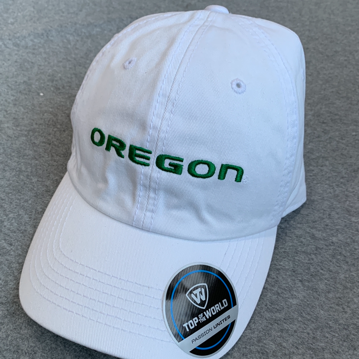 Oregon Ducks Ball Cap - White, Adjustable