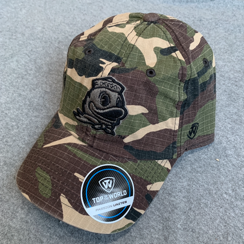 Oregon Ducks Ball Cap - Camouflage, Adjustable