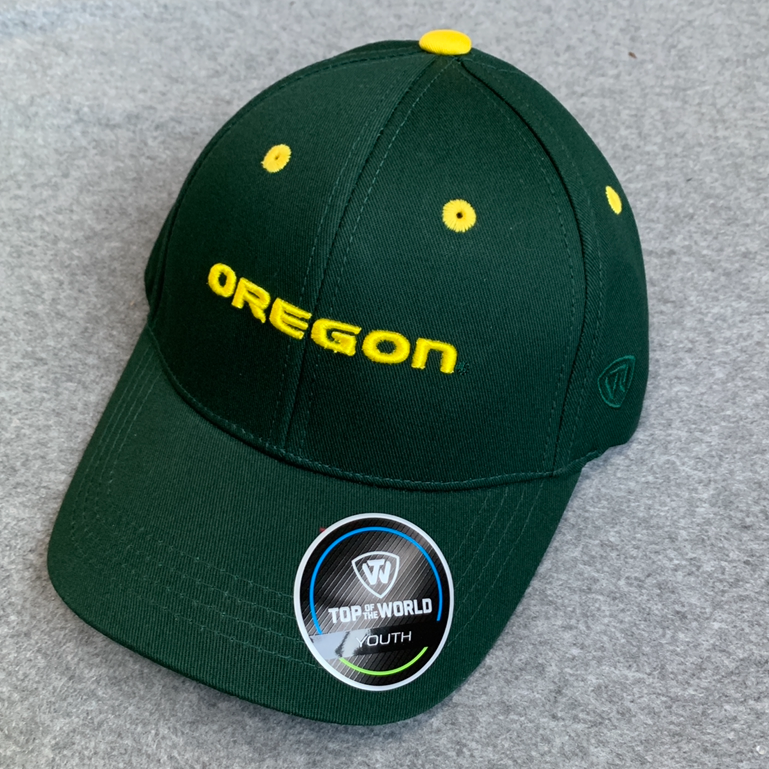 Oregon Ducks Ball Cap - Green, Adjustable, Youth Size