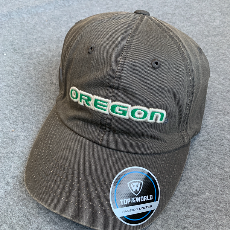 Oregon Ducks Ball Cap - Grey, Adjustable