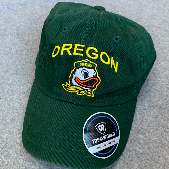 Oregon Ducks Vintage Ball Cap - Dark Green