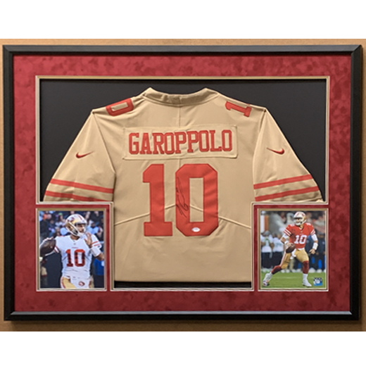 Autographed San Francisco 49ers Jimmy Garoppolo Jersey, Framed