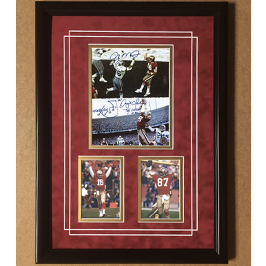 "San Francisco 49ers Joe Montana & Dwight Clark 'The Catch,"" Framed 8x10"