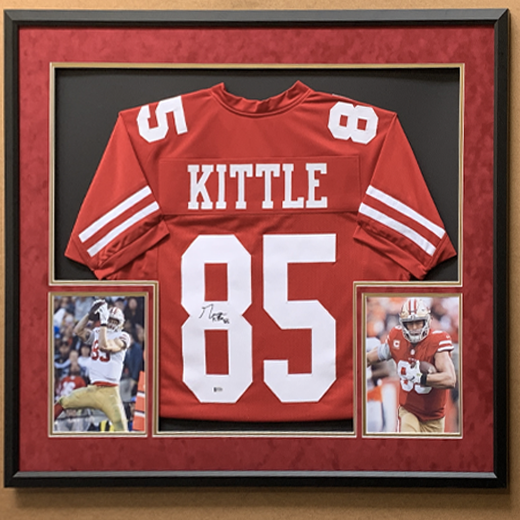 Autographed San Francisco 49ers George Kittle Hand Signed Jersey, Framed