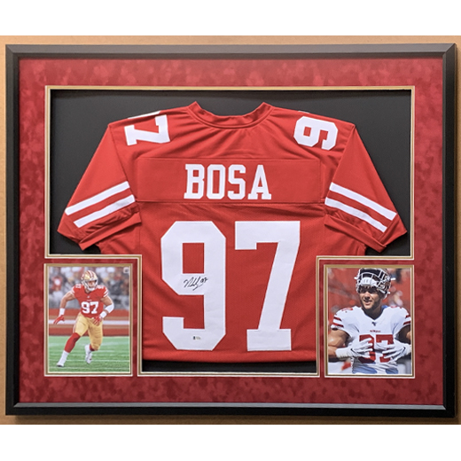 Autographed San Francisco 49ers Nick Bosa Jersey, Framed