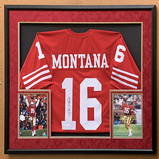 Joe Montana Jersey, Framed
