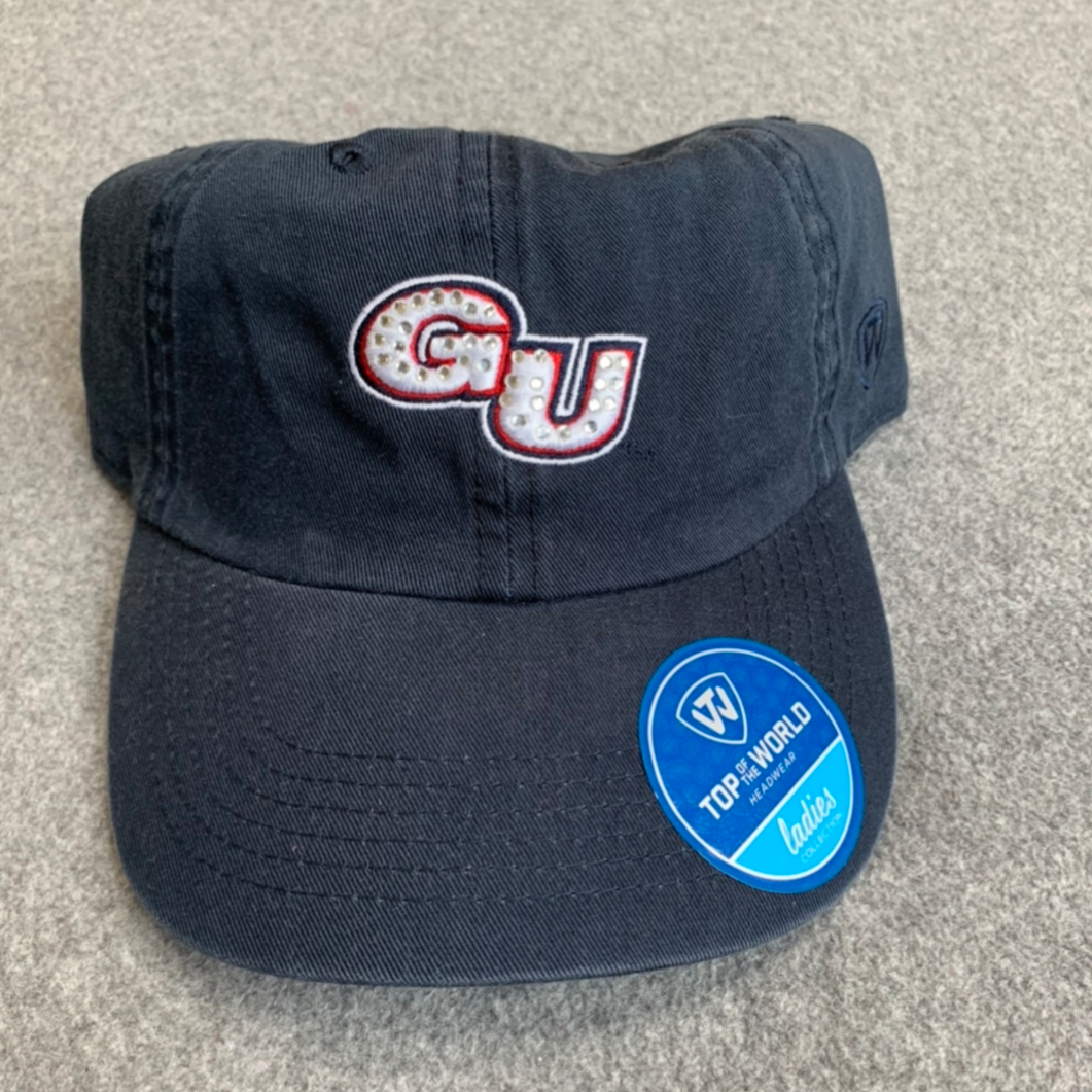 Gonzaga University-Women's Navy Blue Adjustable Hat with Gems