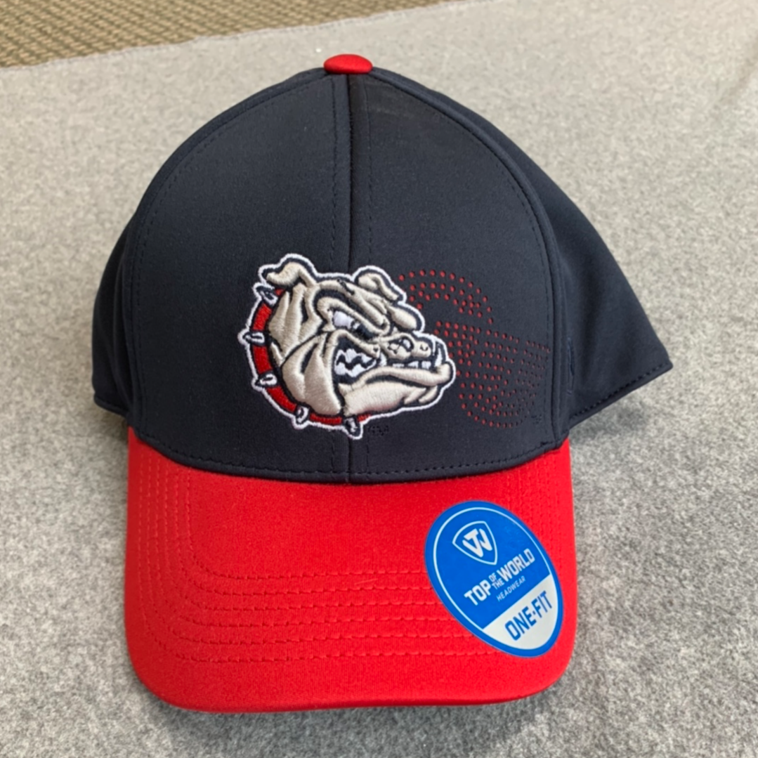 Gonzaga University-Navy Blue Men's Hat with Red Bill