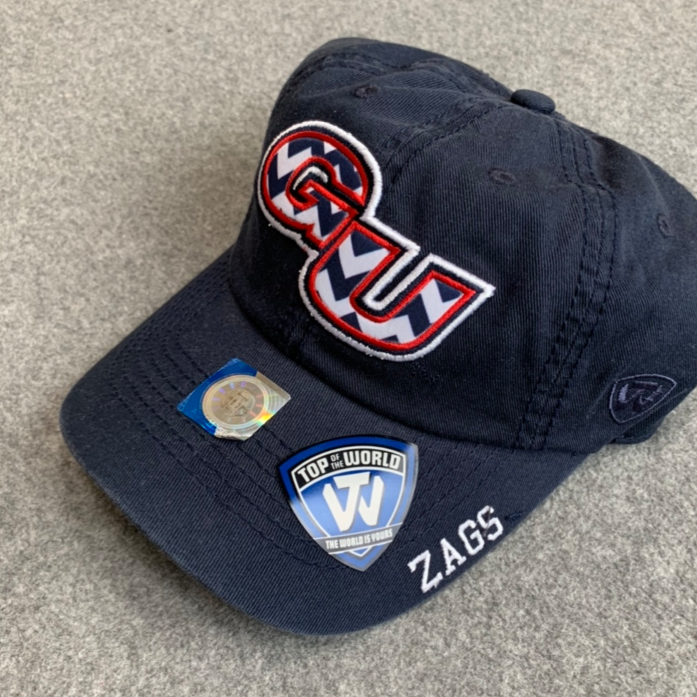 "Gonzaga University-Women's Adjustable Hat with Chevron Print ""GU"""