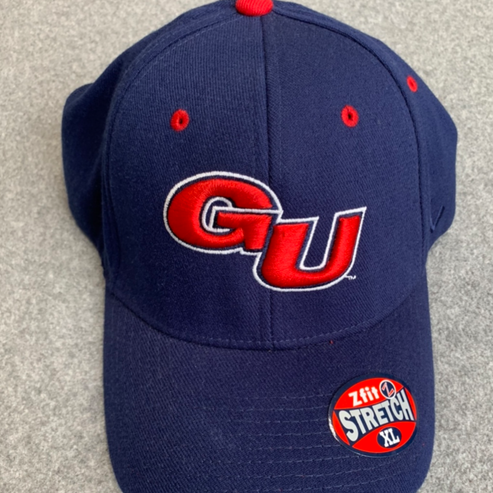 "Gonzaga University-Navy Blue Hat with Red ""GU"""