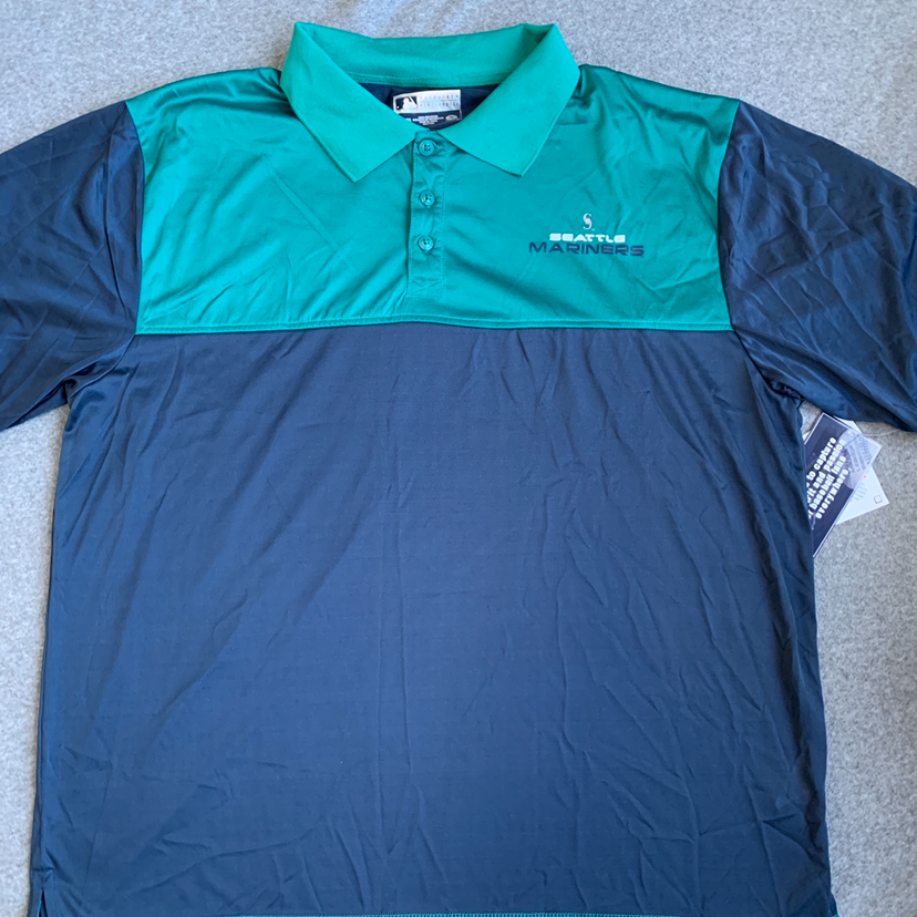 NWT Seattle Mariners Mens Polo Size XXL.