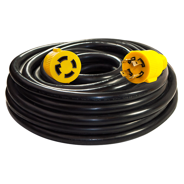 Generator Extension Cord - ETL Listed - 30A - 125/250V - 10/4 4PIN - 50 Feet