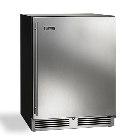 "Perlick 24"" ADA compliant undercounter freezer, stainless steel door, right hinge"