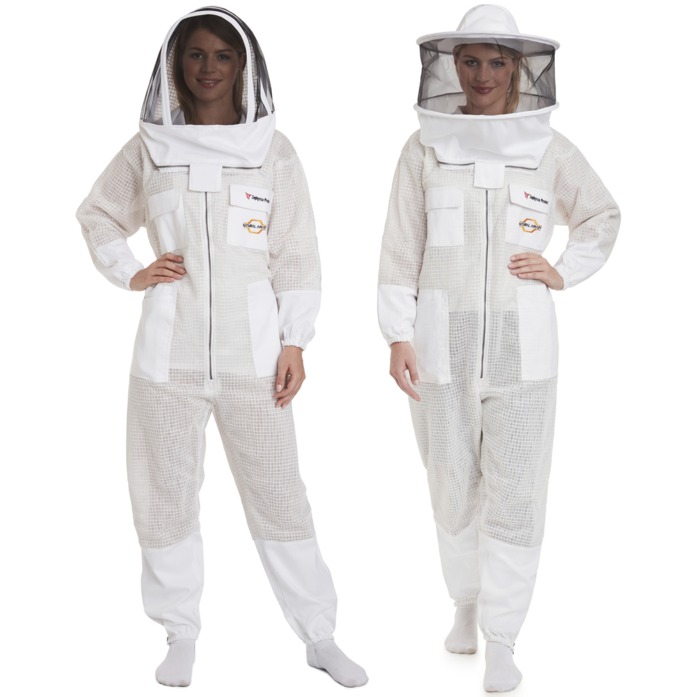 Zephyros - 3 Layer Ventilated Beekeeping Suit with 2 Veils Round & Fencing - Stay Protected & Cool