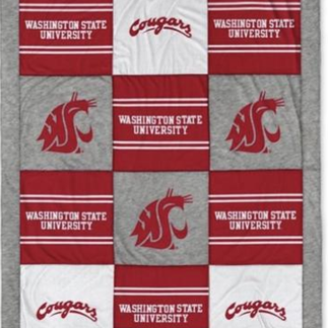 NWT WSU Cougars League Quilted Blanket