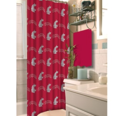 NWT WSU Cougars Fabric Shower Curtain