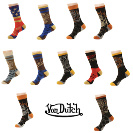 12 Pairs of Von Dutch Socks