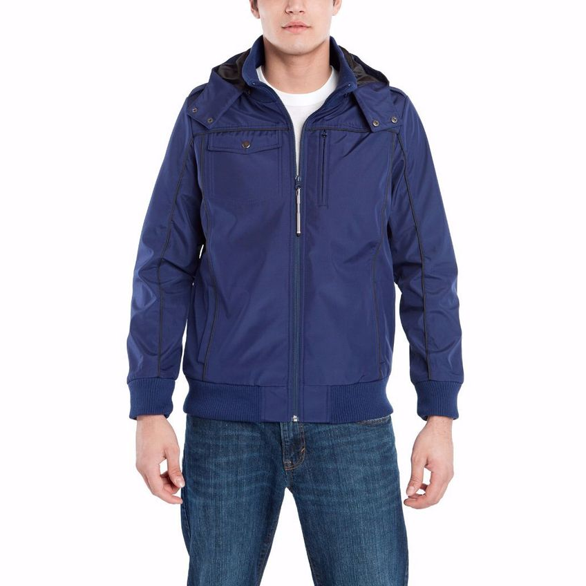BAUBAX Men's Blue Bomber Jacket - 4 Sizes Available