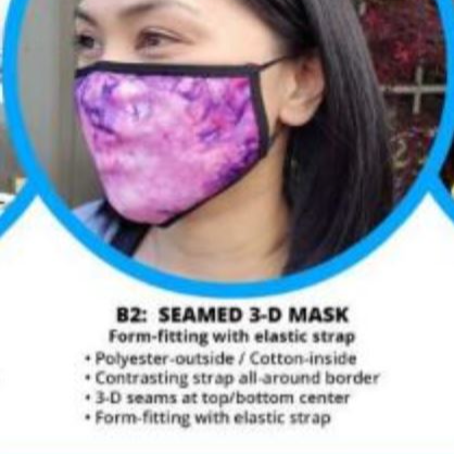 Customizable Non-Medical Grade Safety Mask with Custom Art - B2 Style