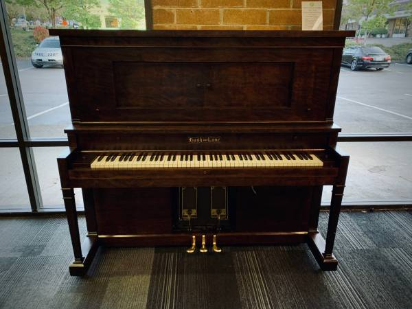 "BUSH & LANE CECILIAN WALNUT SEMI-GLOSS 54"" UPRIGHT PIANO"