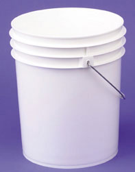 ROP5P175 - Plastic Bucket - White (New)