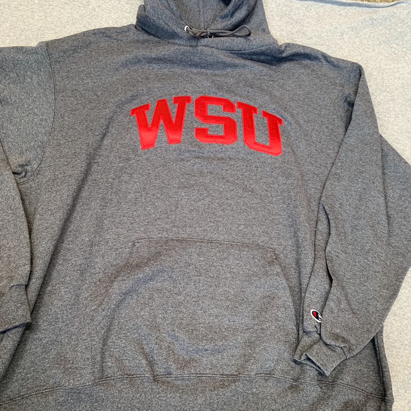 NWT WSU Cougars Embroidered Champion Hoodie XXL