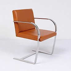 Mies van der Rohe Style: Executive Flat Arm Side Chair No Armpads