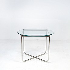Mies van der Rohe Style: Exhibition Round Table - Glass Top