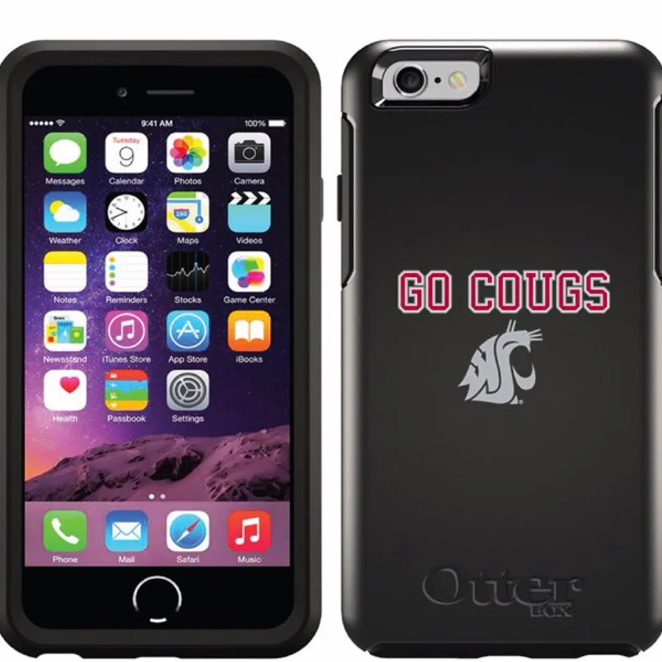 NWT WSU Cougars 6/6s black iPhone case