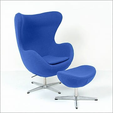 Jacobsen Style: Egg Chair with Ottoman