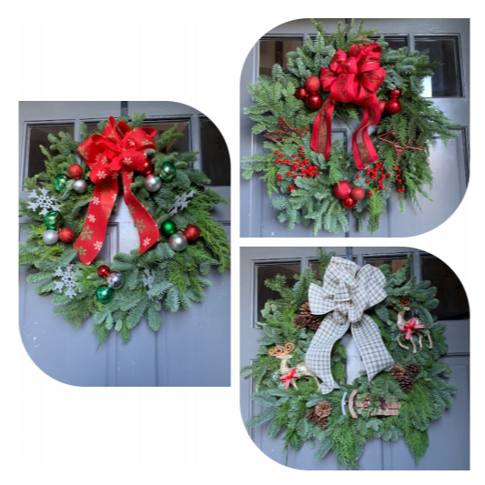 Custom Holiday Wreaths