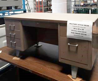 Military Style Metal Desk