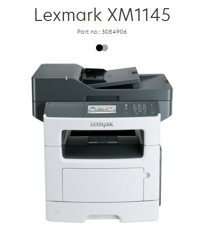 *Refurbished* Lexmark Printer - XM1145 B/W 45ppm A4 Multifunction (MFP) Scan/Print/Copy