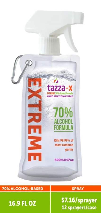 Tazza® 70% Alcohol-Based 16.9 oz Hand Sanitizer Spray (12 Bottles per case)