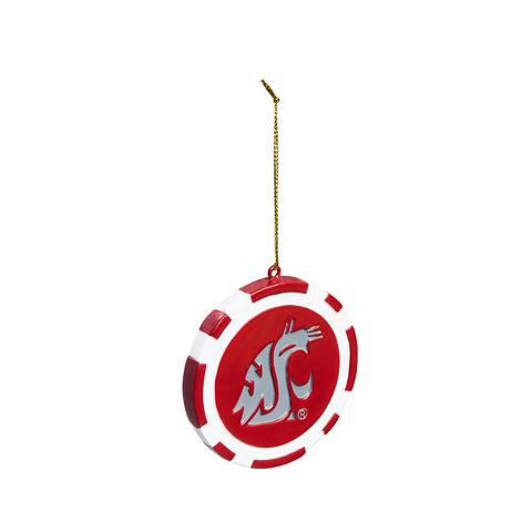 WSU GAME CHIP ORNAMENT