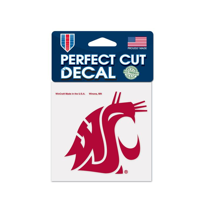 "WASHINGTON STATE COUGARS PERFECT CUT COLOR DECAL 4"" X 4"""