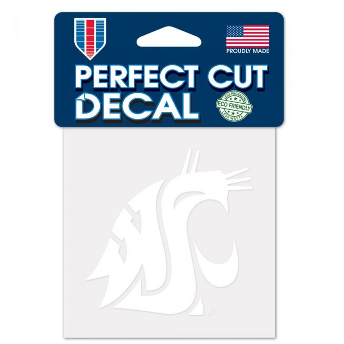 "WASHINGTON STATE COUGARS PERFECT CUT DECAL 4"" X 4"""