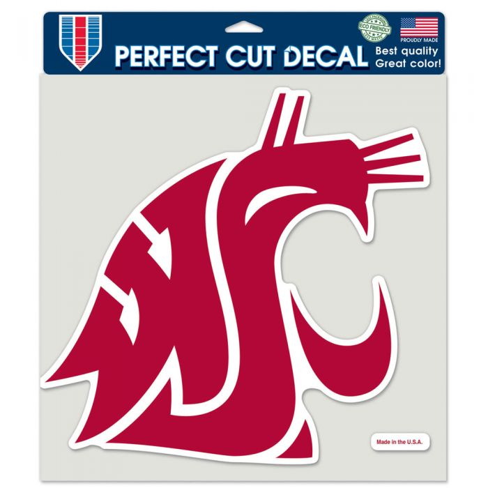"WASHINGTON STATE COUGARS PERFECT CUT COLOR DECAL 8"" X 8"""