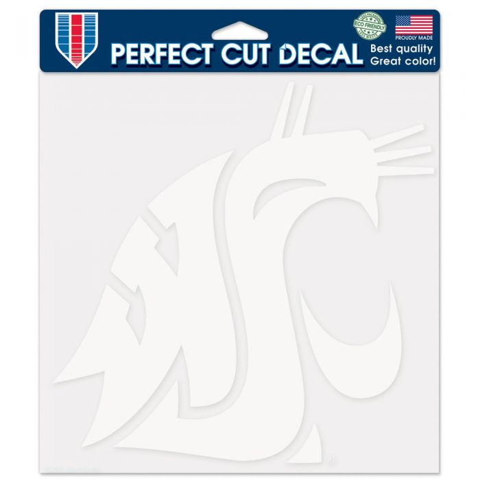 "WASHINGTON STATE COUGARS PERFECT CUT DECAL 8"" X 8"""
