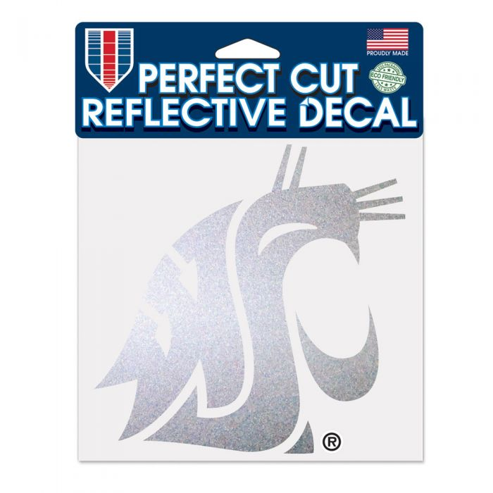 "WASHINGTON STATE COUGARS REFLECTIVE PERFECT CUT 6"" X 6"""