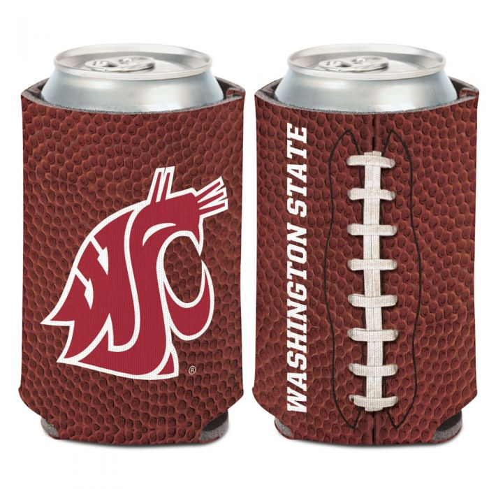WASHINGTON STATE COUGARS FOOTBALL CAN COOLER 12 OZ.