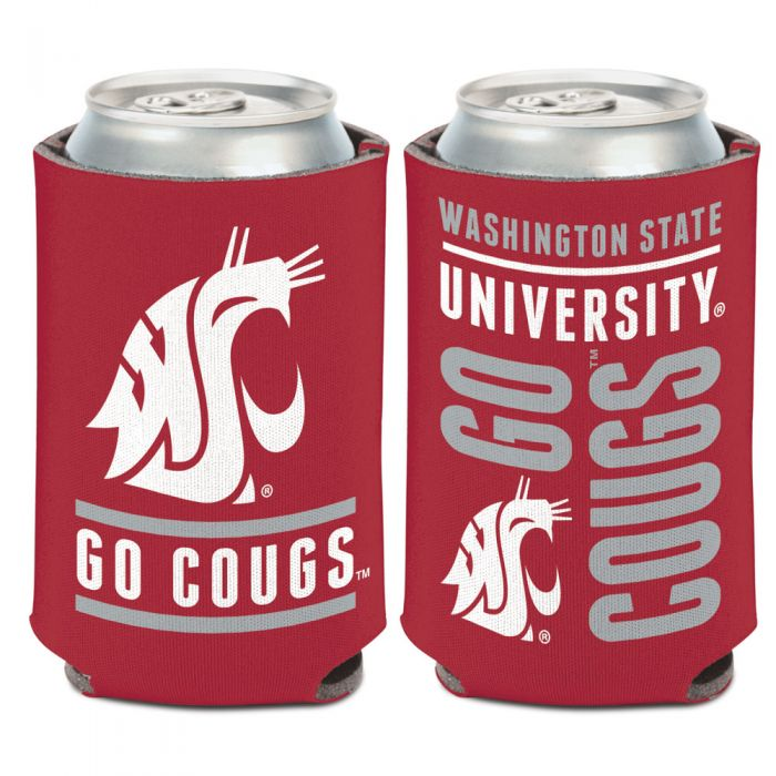WASHINGTON STATE COUGARS SLOGAN CAN COOLER 12 OZ.