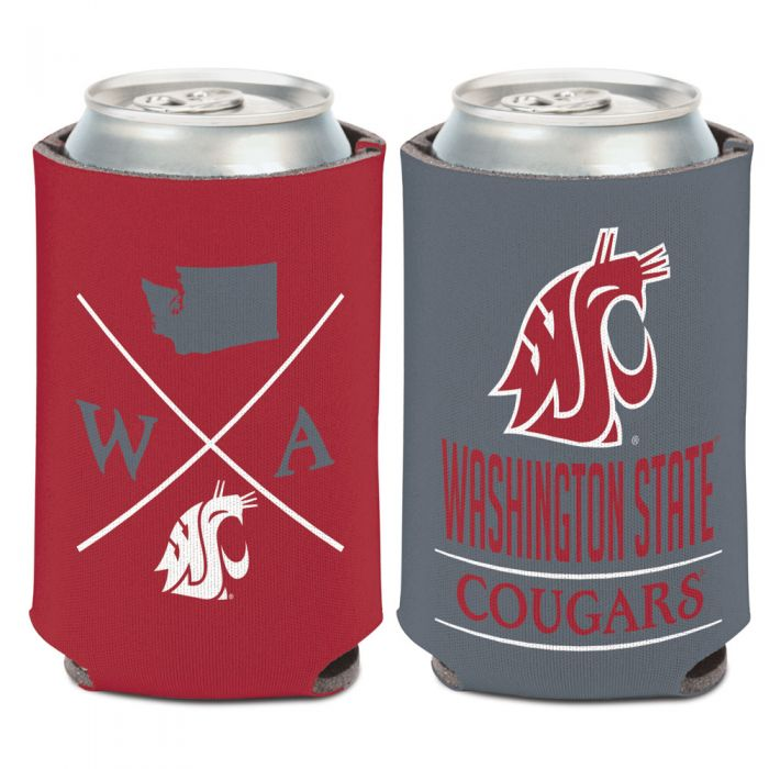 WASHINGTON STATE COUGARS HIPSTER CAN COOLER 12 OZ.